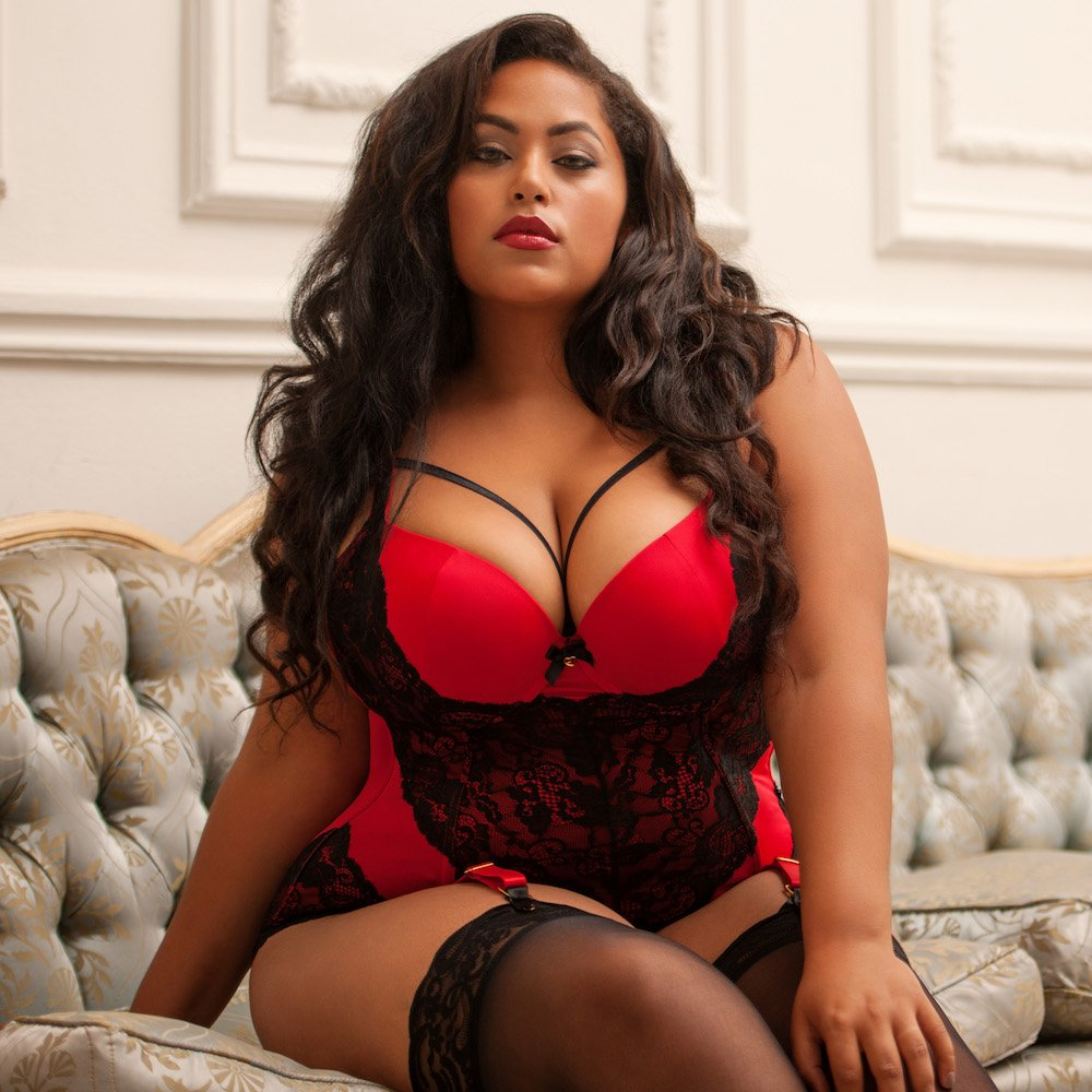 Think, Hot plus size lingerie models