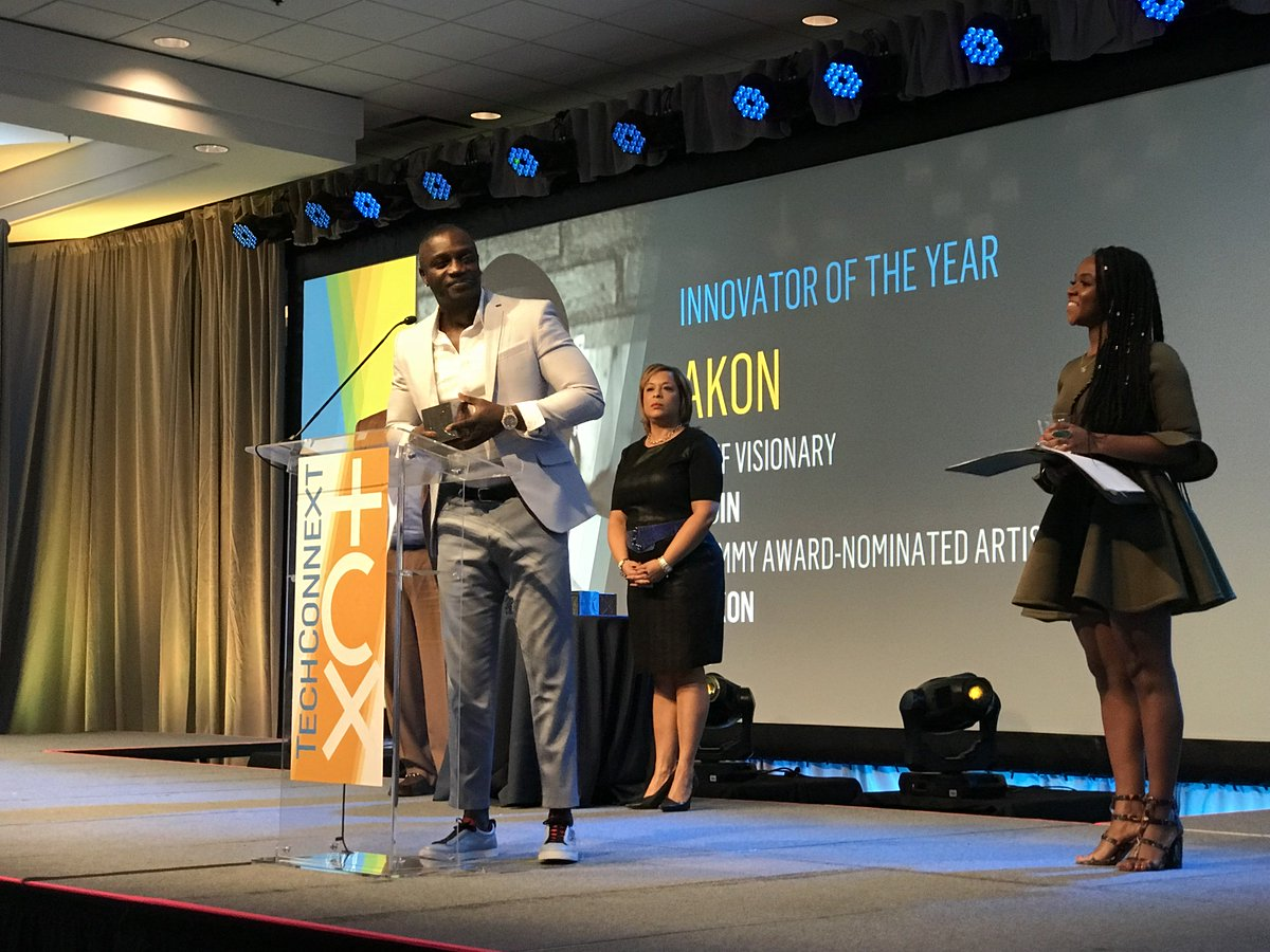 RT @blackenterprise: Our Innovator of the Year is none other than one and only @Akon! #TECHCNXT https://t.co/QnU2DqB6jm