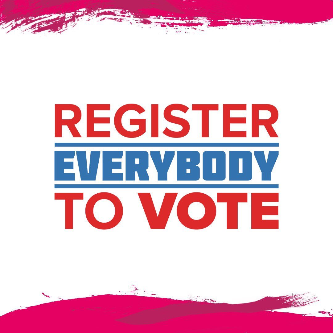 Register to Vote everyone please https://t.co/B0Lp4miJhv