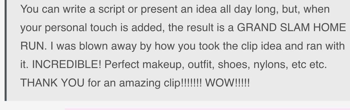 I love feedback like this! Com3gvQubk
