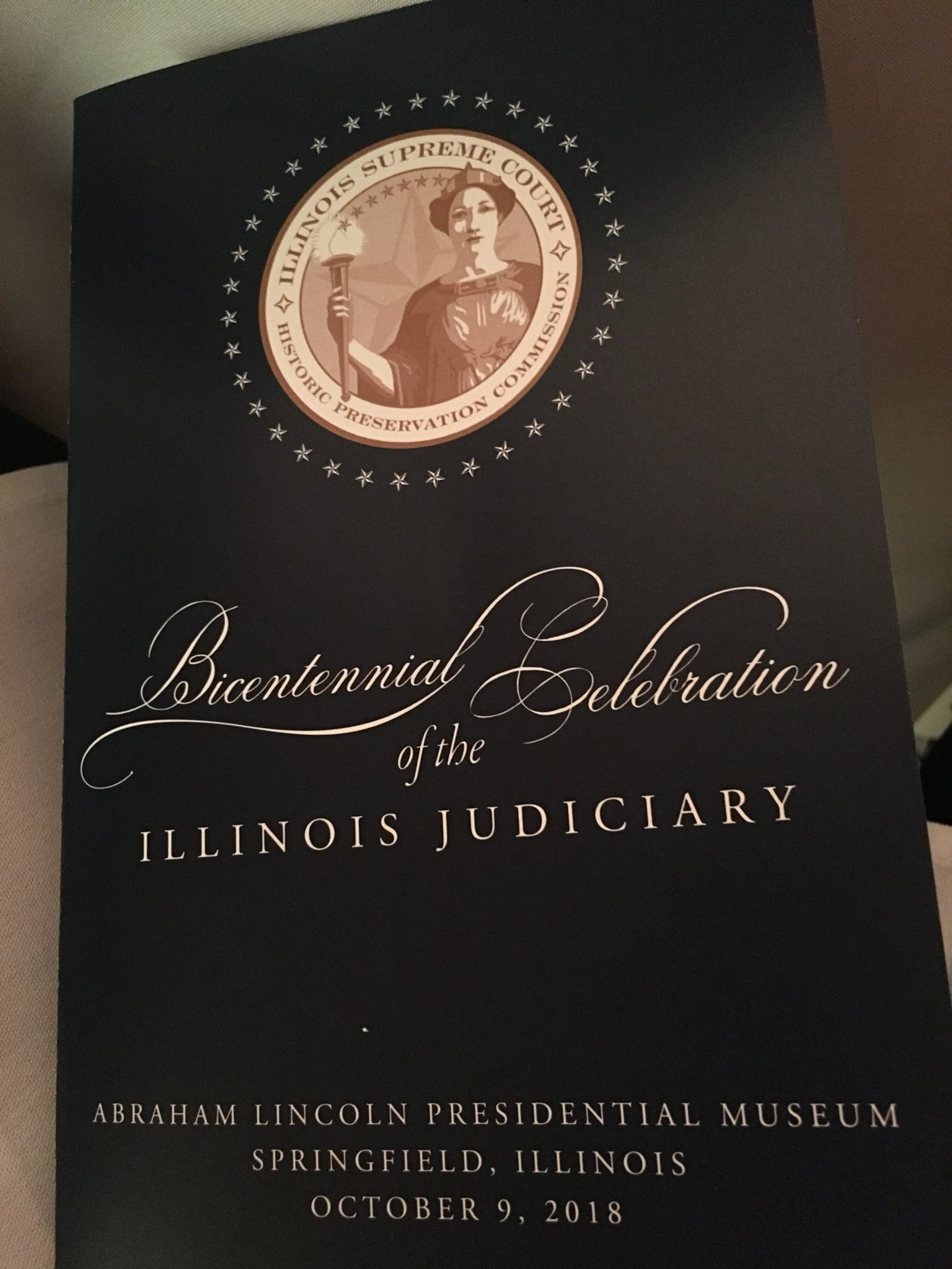 The Bicentennial of the Illinois Judiciary Gala is being held at the Abraham Lincoln Presidential Museum in Springfield. #ILSupremeCourt200 https://t.co/kjYxnJ2Q7T