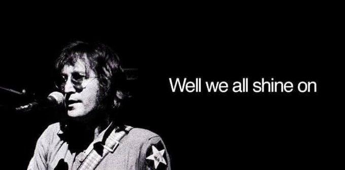 "\""You may say that I\m a dreamer. But I\m not the only one.\"" Happy birthday John Lennon"