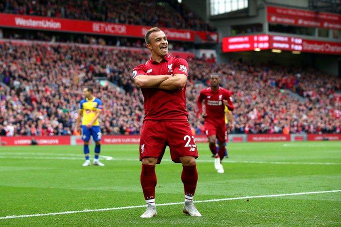 Happy birthday Xherdan Shaqiri! The Liverpool winger turns 27 today.  Have a good one Xherdan!