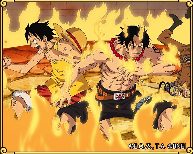 Found a Transponder Snail! Ace and Luffy form an unbreakable wall in battle! https://t.co/xYLXMHxLfj #TreCru https://t.co/Z4NROUEx83