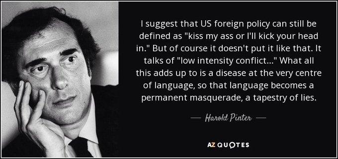 Happy birthday, playwright Harold Pinter.
