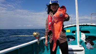 和歌山県南部 西漁丸 (10月10日の釣果)  アコウダイ便でした。竿頭9匹。 潮が段々と止まるにつれて アタリがなくなってきました。 釣果に差ができてしまいすみません。  https://t.co/wbckSp221X https://t.co/ku8ldAwsQ0