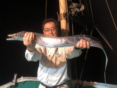 和歌山県中部 弁慶丸 (10月10日の釣果)  半夜釣りのタチウオ狙い、好調です!!  https://t.co/nJMeAJ5Kud https://t.co/MVHEX0GqLC
