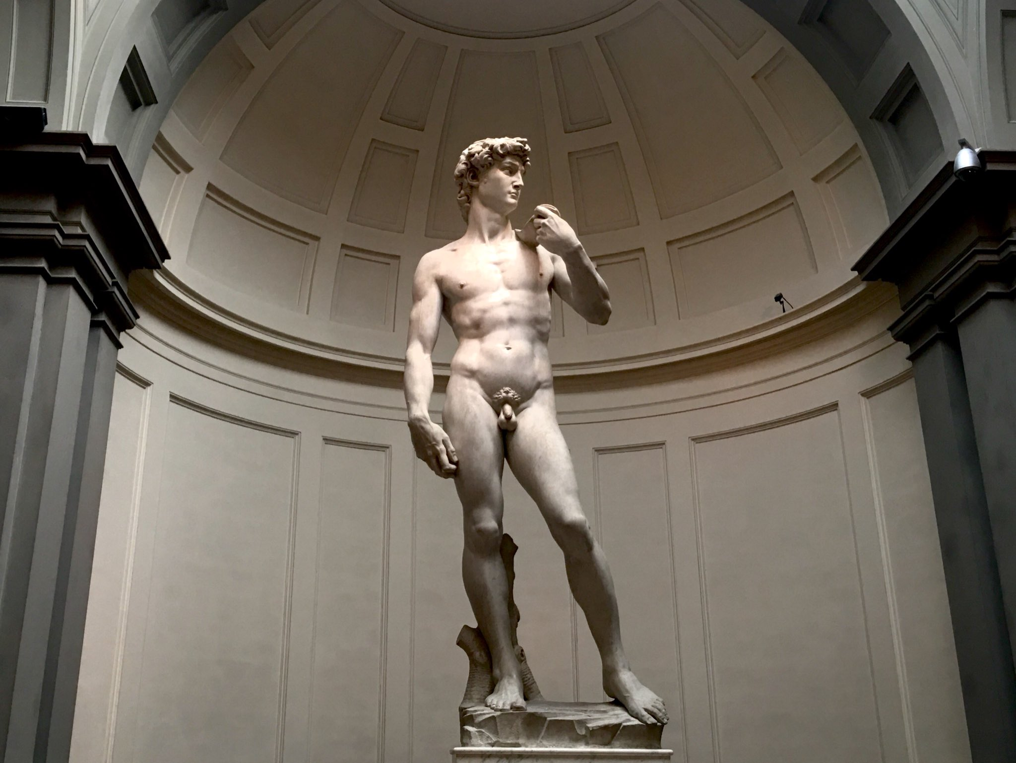 Odyssey Italy 2018, David is a masterpiece Renaissance sculpture created in marble 1501-04 by Italian artist Michelangelo. David is a 5.17-meter (17.0 ft) marble statue represents the Biblical hero David, a favoured subject in the art of Florence. https://t.co/scjxgzjf16