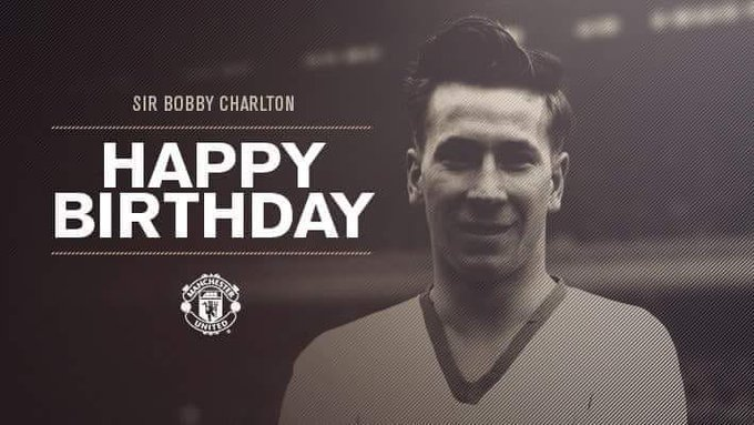 """Happy Birthday to one of the finest footballer world has witnessed! \SIR BOBBY CHARLTON\"""""""