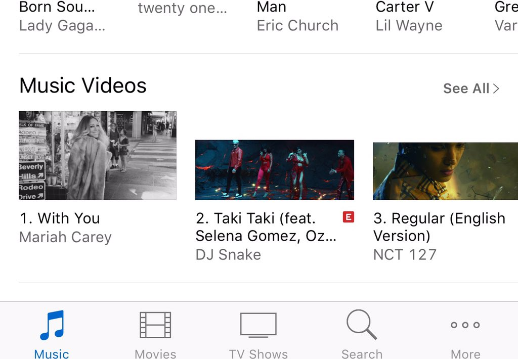 RT @immahit: Congrats @MariahCarey #WITHYOU video is number 1 on USA iTunes. https://t.co/7zH1vIOvAu