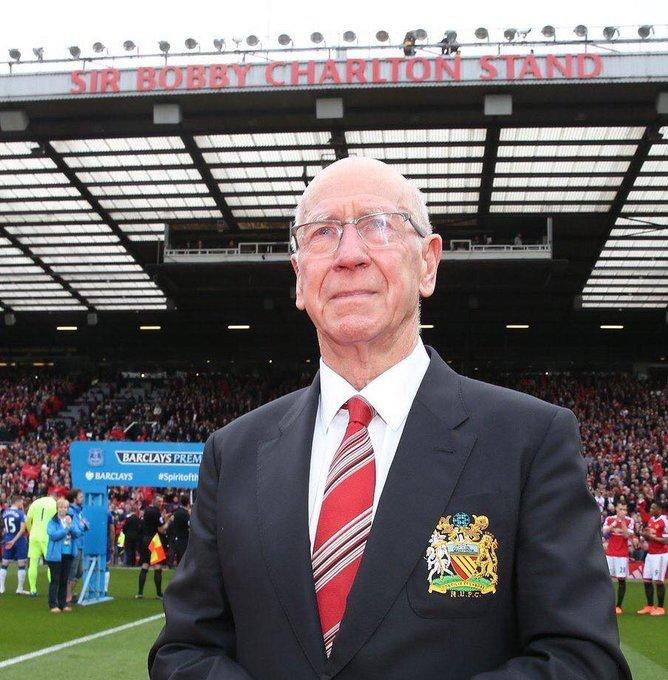 Happy 81st birthday, Sir Bobby Charlton.Legend