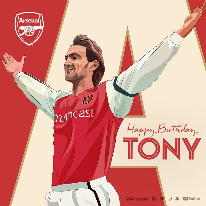 Happy Birthday To Mr Arsenal, Tony Adams. Wish you all the best