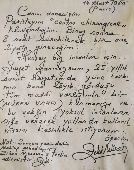 Zeki Müren'in 1980 yılında Paris'te annesine yazdığı mektup;  İyi ki geçtin bu dünyadan Zeki Müren... https://t.co/IJbW9erAqZ