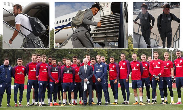 England stars wish Sir Bobby Charlton a happy 81st birthday before jetting off to Croatia