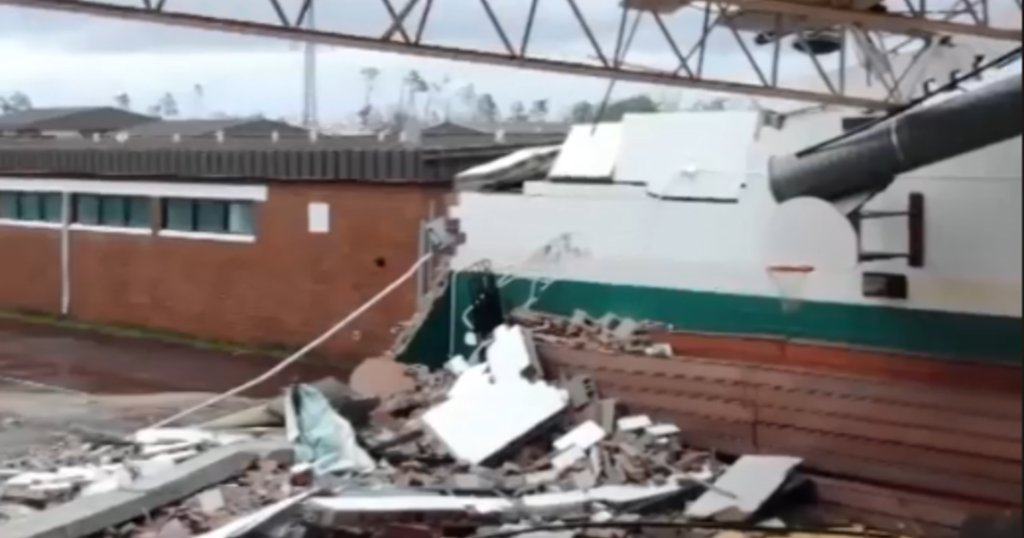 Dramatic drone video shows Florida school decimated by Hurricane Michael