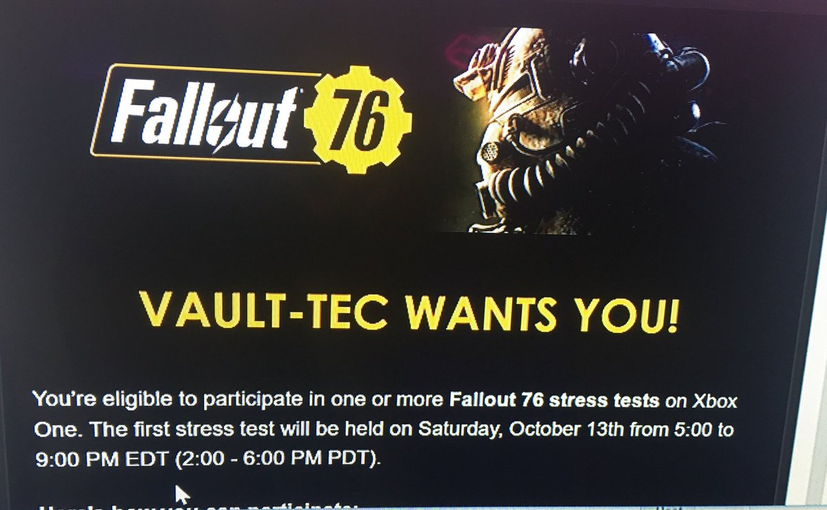 1 pic. So this happened and I'm so excited! #Fallout76 2