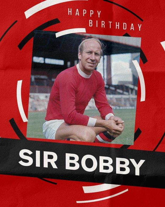 Happy Birthday Sir Bobby Charlton. Absolute