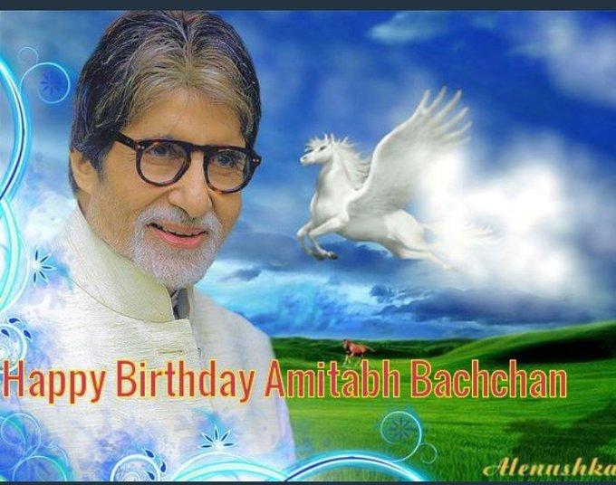 Happy Birthday Amitabh bachchan sir ji