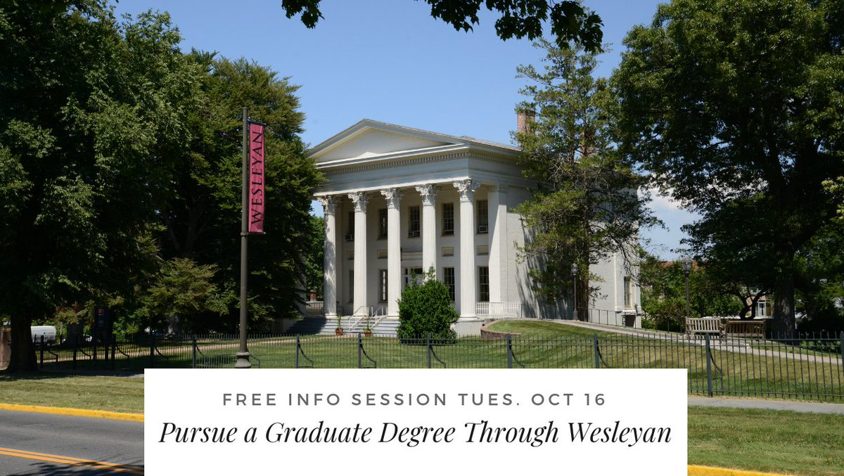 test Twitter Media - Pursue a Master's Degree through Wesleyan! Graduate Liberal Studies offers grad courses in arts, sciences, humanities, and social sciences—flexible scheduling, on-campus, and online options.  Free info session Tuesday, Oct 16 → https://t.co/brml168dCC https://t.co/1bt0nwdkSY