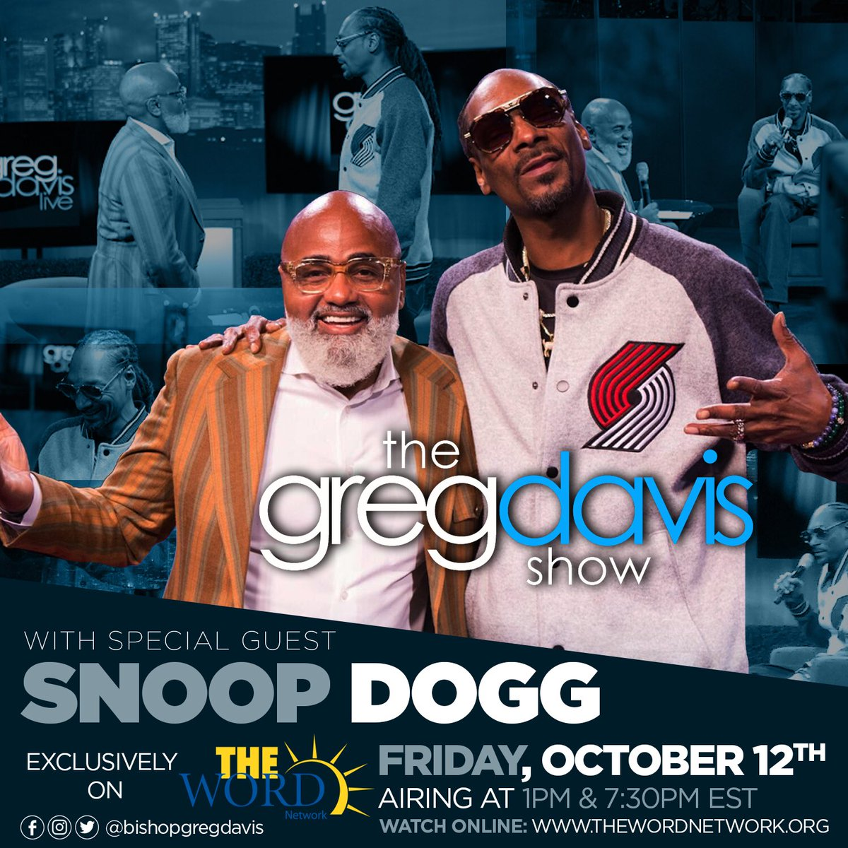 RT @Joy105com: Don't miss @Bishopgregdavis tonight on @thewordnetwork a real conversation w/ @SnoopDogg https://t.co/wklIJO8fcg