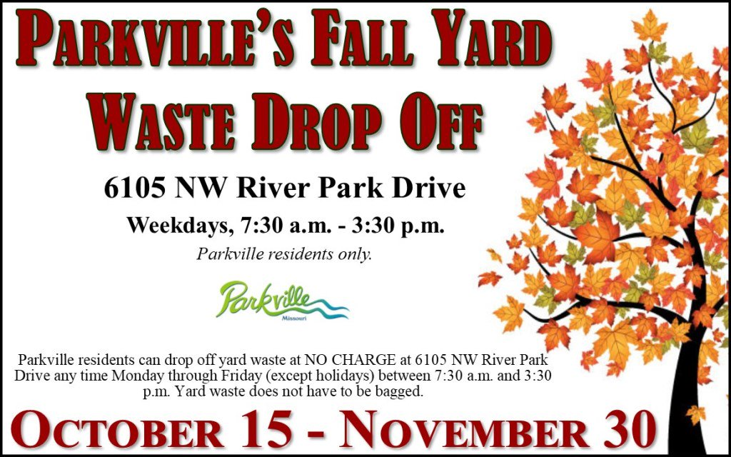 test Twitter Media - Don't forget about our @parkvillemo fall recycling events! Fall Cleanup on October 13th 8a-4p (6105 NW River Park Dr); curbside pickup on October 15th 7a; and extended yard waste drop off weekdays 7:30a-3:30p from October 15-November 30th. Parkville residents only. https://t.co/hkDsLRLYWJ