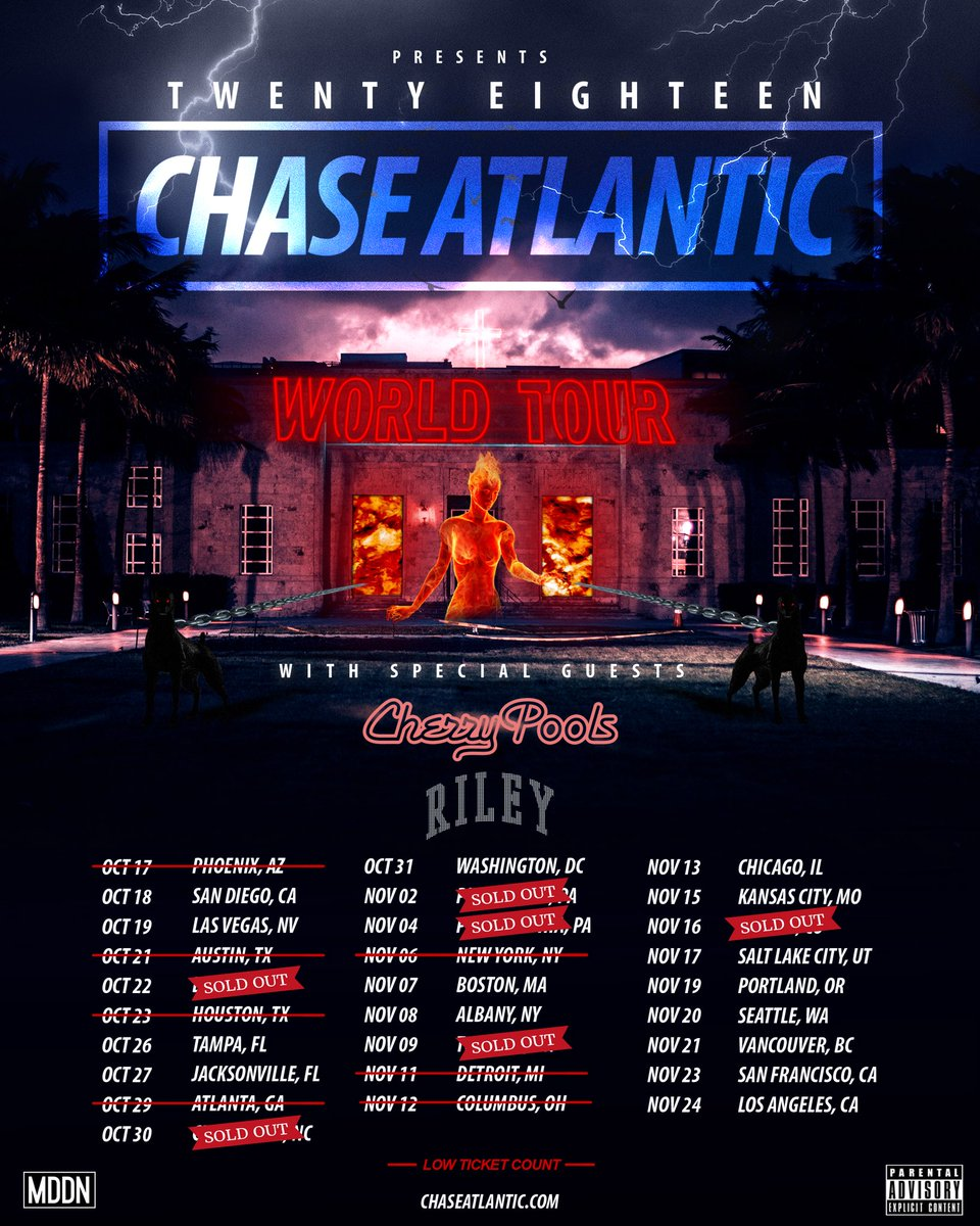 RT @ChaseAtlantic: BRAND NEW SET. BRAND NEW MUSIC. BRAND NEW BITCH. TICKETS RUNNING OUT. ???? https://t.co/izRj43bTw0