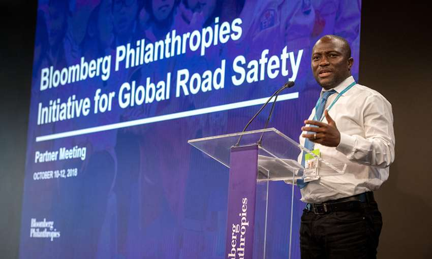 test Twitter Media - Accra's @MayorAdjeiSowah speaks at the @BloombergDotOrg #roadsafety meeting about his experience of not wearing a motorbike helmet. Accra is making its highways safer through the @BloombergDotOrg Partnership for Healthy Cities. @ghn_news #cities4health https://t.co/l6aac9DRjc https://t.co/M85OhbkOyB