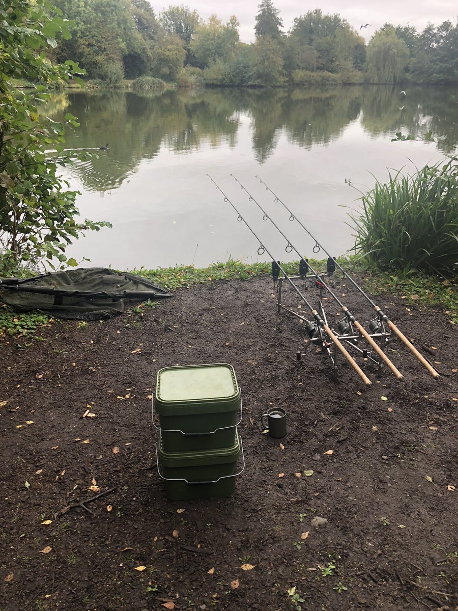 Got it sorted a day session for me, whilst Owen fishes the match lake behind me. #Carpfishing #<b>Fi