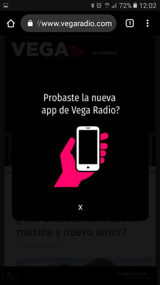 """test Twitter Media - Nueva tecnologia, sin necesidad de """"Playstore"""". Es la nueva #webapp de #vegaradio. Mas fácil de acceder a la música, a las noticias y por supuesto al ranking mas importante de Argentina, el #RankingTop40  Instalate el icono desde https://t.co/NFSRJiID7e 👈 https://t.co/vvgh7cGQO2"""
