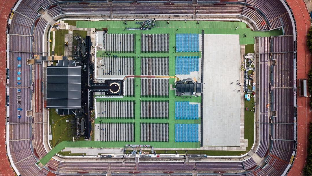 Preparados! Así luce el escenario de #ElDoradoWorldTour en Guadalajara, México! ShakHQ #ShakiraGuadalajara https://t.co/1CgOuv0KQd