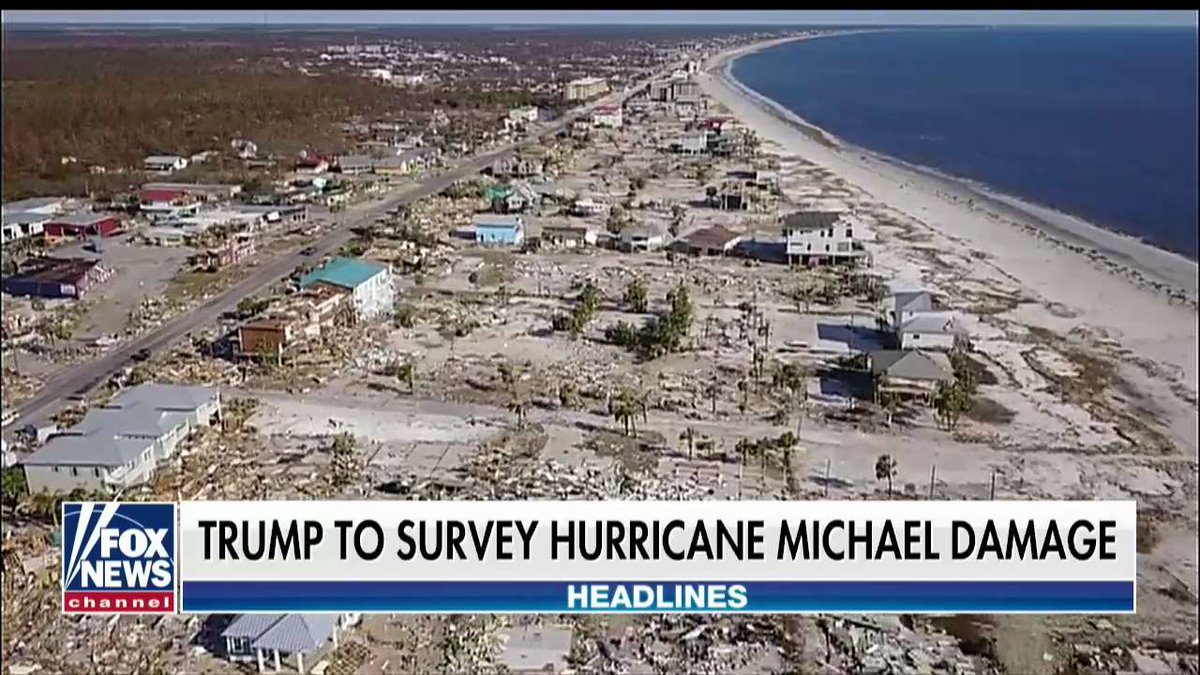 .@POTUS to survey Hurricane Michael damage