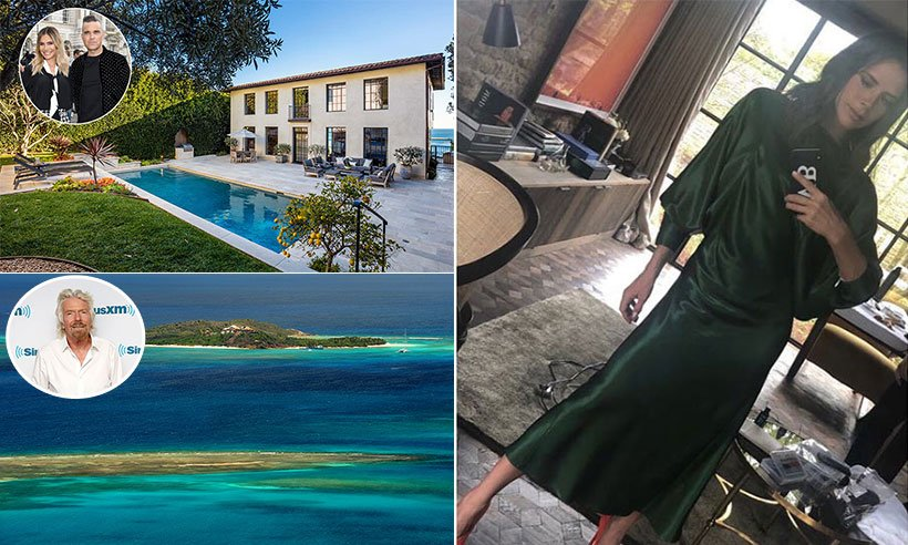 See 10 of the most spectacular celebrity holiday homes: