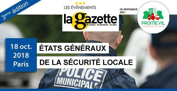 """test Twitter Media - PLUS QUE 3 JOURS ! La Gazette des communes organise le 18 octobre les 3è Etats généraux de la sécurité locale. Le rendez-vous """"prévention / sécurité"""" des acteurs locaux, une journée organisée avec @PROMEVIL_MED #securite #Police @GazetteEvent #rerd #RERA #RERB #RERC #mediation https://t.co/SWakvl0IB3"""