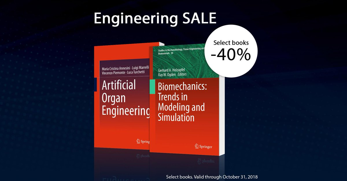 test Twitter Media - Save 40% on select #Engineering titles. Free worldwide shipping for #print books. This special is valid through 10/31/2018: https://t.co/Kt3cGggCr1 #SpringerSpecial https://t.co/yTIZpAHHcH
