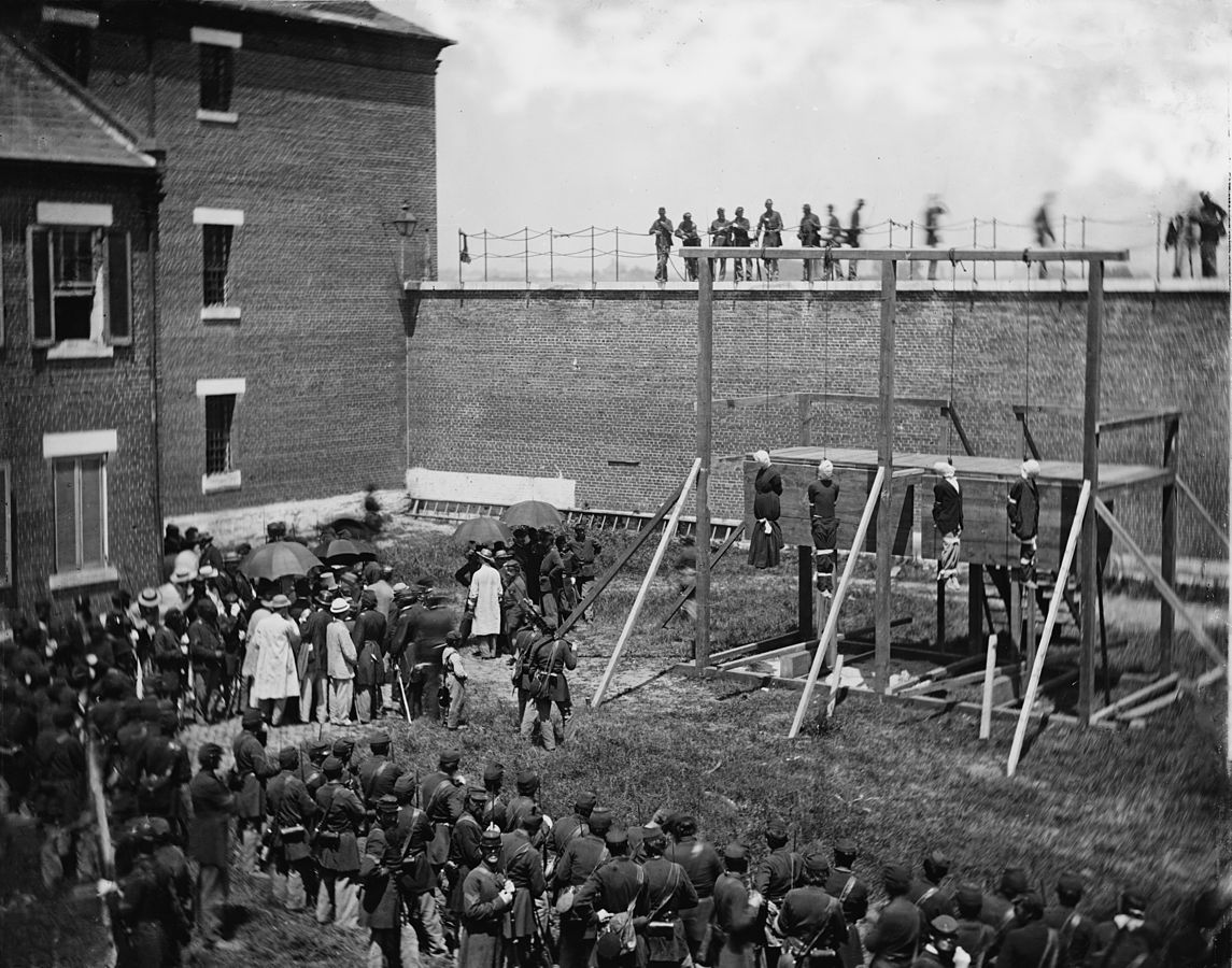 Execution Lincoln assassins, 1865 https://t.co/kBMIHqOQRb