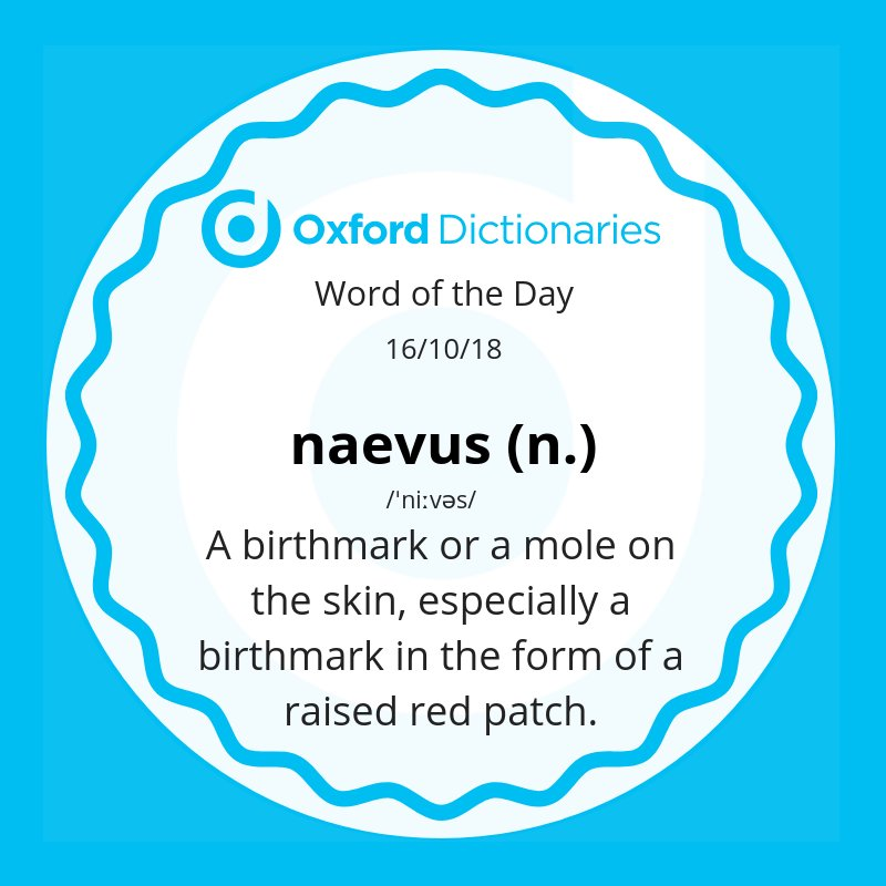 test Twitter Media - Word of the Day: naevus - a birthmark or a mole on the skin, especially a birthmark in the form of a raised red patch.  https://t.co/Fs1yWWcKjv https://t.co/ynHbE9GG69