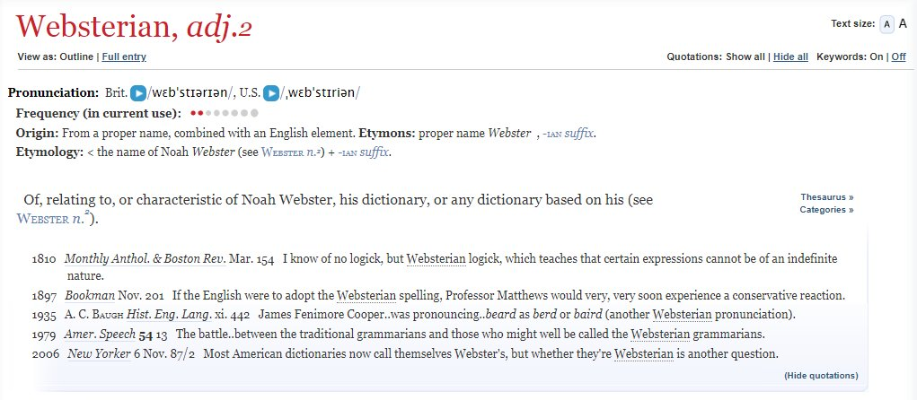 test Twitter Media - The father of the American Dictionary, Noah Webster, was born #OTD in 1758, & today is accordingly celebrated as #DictionaryDay. Here's our entry for WEBSTERIAN, adj.: https://t.co/QITFFVR4dv