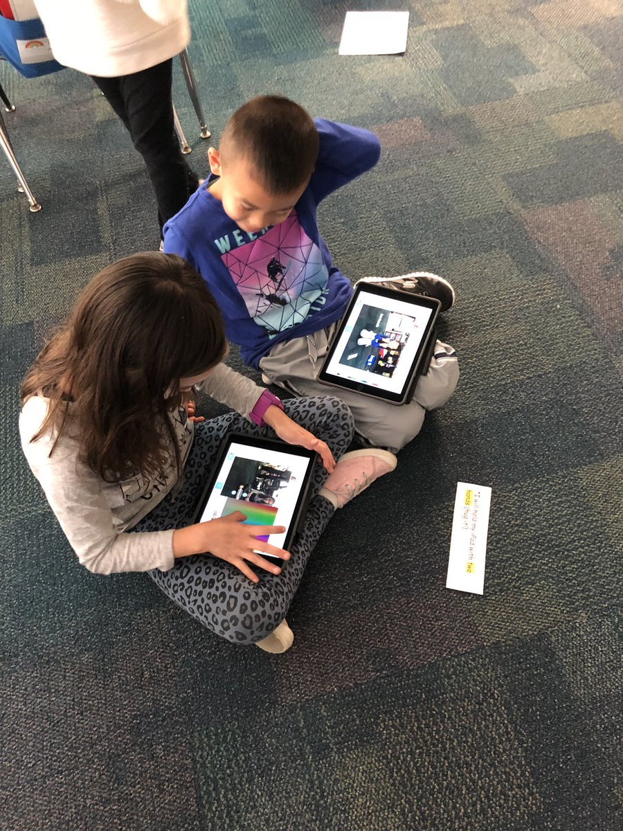 test Twitter Media - 2nd grade students in @mrspalzet showing how to care for their iPads for digital citizenship! They took pictures and practiced using labels and captions in @Seesaw! #d30learns https://t.co/0hQGDBLUQA