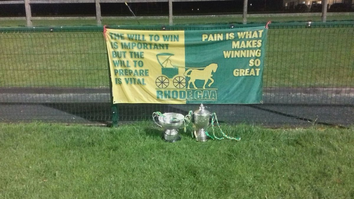 test Twitter Media - The Dowling and Casey Cups sit proudly in Fr.Dowling Park tonight as the Journey continues preparing for there next challenge in Leinster 😊💚💛💪 @TullamoreTrib @MidlandsSport @OffalyTracker @Offaly_GAA https://t.co/fBUzNwTLoj