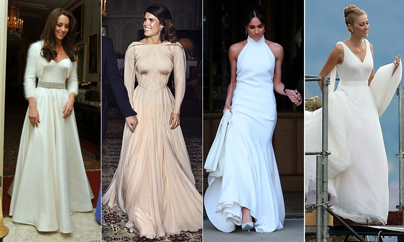 Royal brides and their second wedding dresses - see ALL the pictures!