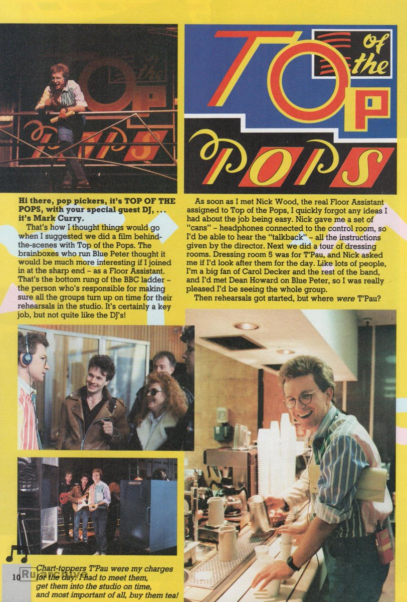 RT @russty_russ: When Blue Peter went Behind the Scenes of Top Of The Pops  #BluePeter #TOTP https://t.co/2zdlVN2ksW