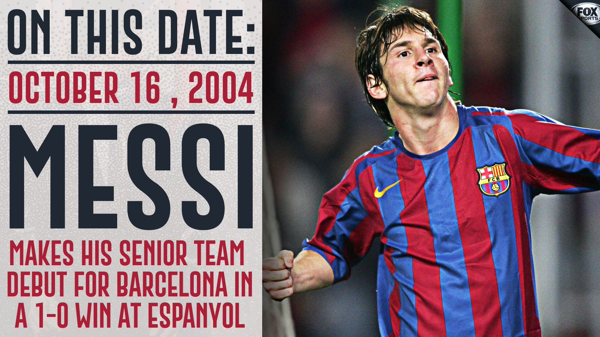RT @FOXSoccer: 14 years ago today, Messi made his Barcelona debut.   And the sport was never the same. https://t.co/a2gtKTyh6Y