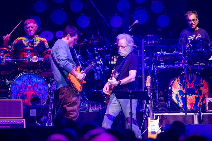 The music never stopped! Happy Birthday to John Mayer & Bob Weir! Photo: Rebecca Taylor/MSG Photos
