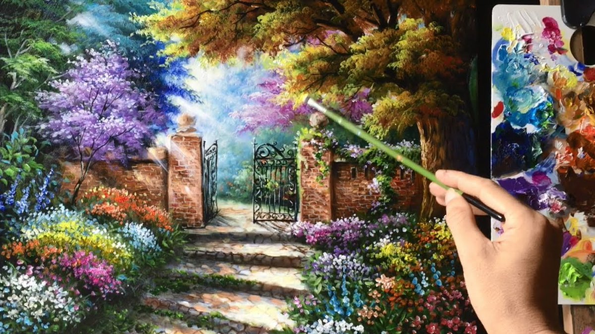 test Twitter Media - If you could paint a picture of your perfect world and then step into the image, what would you find? Credit: Beautiful Garden Gate Acrylics Painting tutorial #Fantasyfan #fantasynovel https://t.co/ZrHahcZy8T