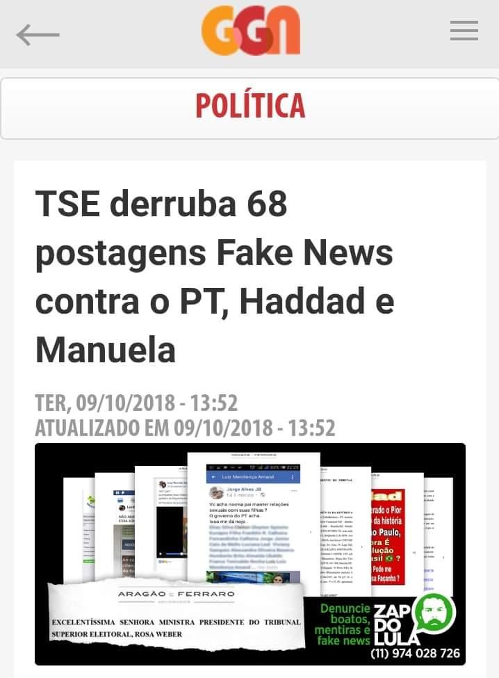 Vamos conferir algumas #FakeNews sobre o Haddad que o bolsoniro anda espalhando pelo wapp??  #Haddad13 #HaddadSim https://t.co/Kpl83TzYgV