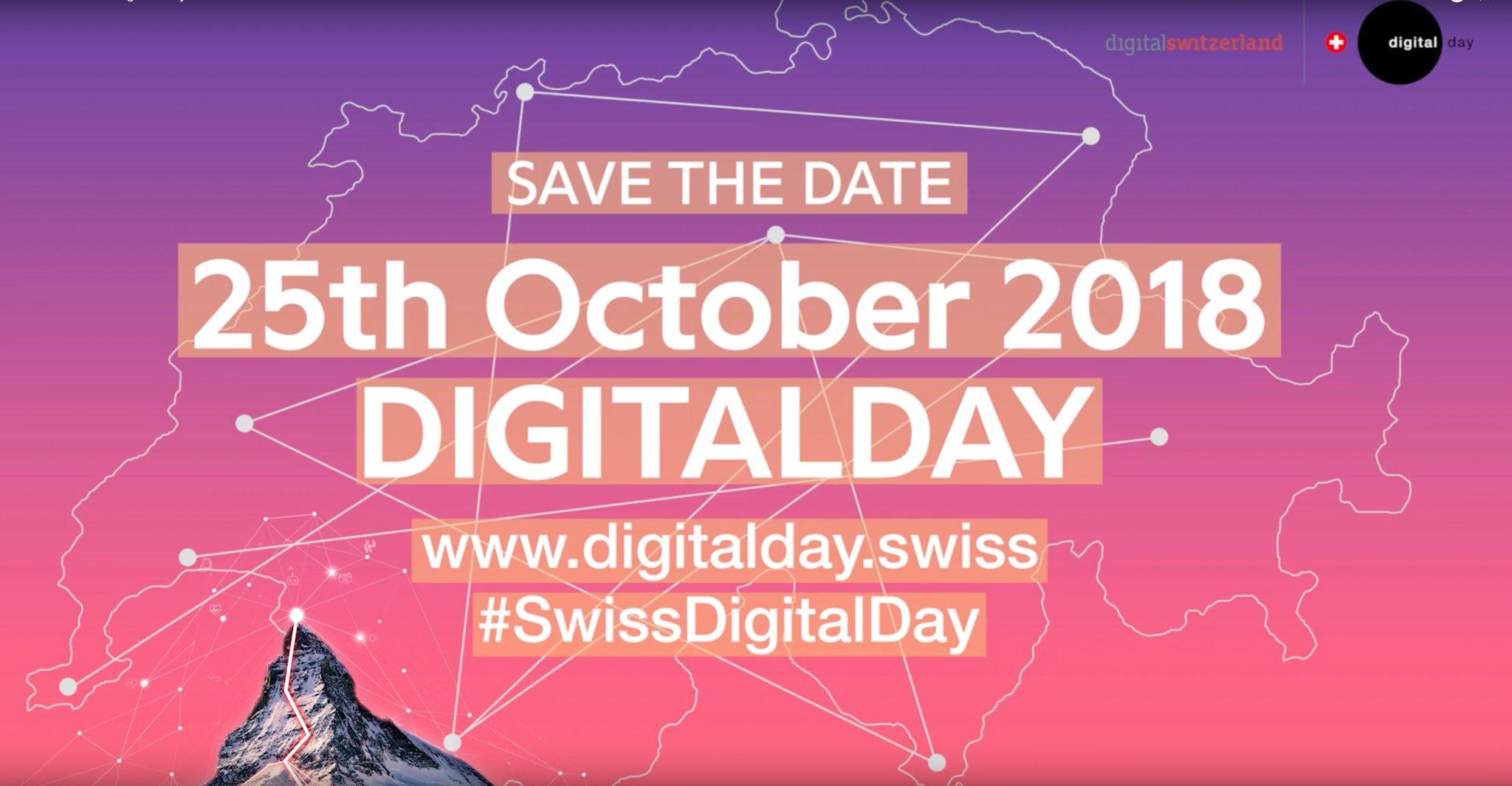 Le #EPFLDigitalDay aura lieu le 25.10: ateliers, démonstrations, expos, découverte des #DiscoveryLearningLabs, du #VeniceTimeMachine, du #BlueBrainProject et des archives du @MontreuxJazz @EPFLArtLab avec @octanisorg @firmtechnology @DariusRochebin @EPFLevents #SwissDigitalDay https://t.co/xdoPAvOTZs