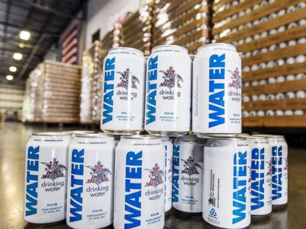 Anheuser-Busch sending 300,000 cans of drinking water to areas ravaged by Hurricane Michael.