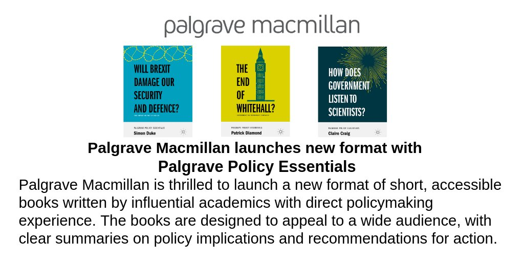 test Twitter Media - Our colleagues over @Palgrave_ are launching a new format: Palgrave Policy Essentials starts with the publication of three books written by Claire Craig, Patrick Diamond and Simon Duke. Learn more about our latest format here: https://t.co/QFbLZQkcBH https://t.co/hC78iPpPGX