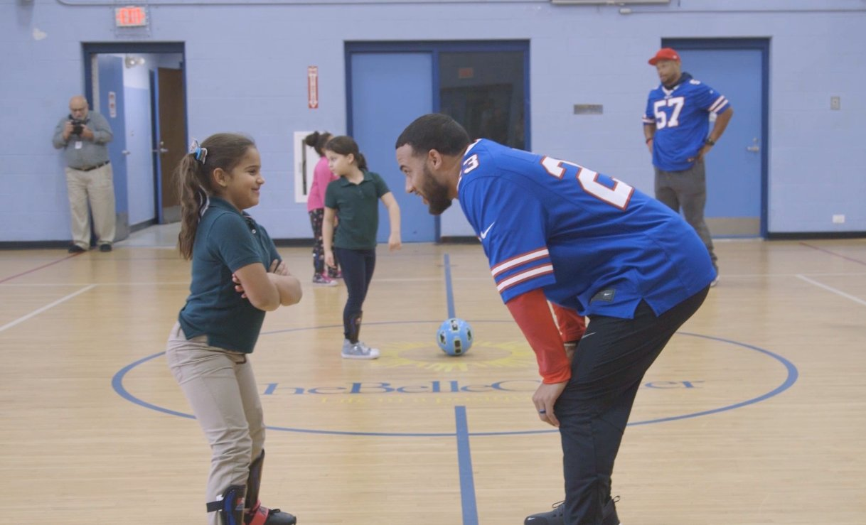 """""""We're not just football players, we're role models that can use our platform to truly change the Buffalo community.""""  Our players are continuing to make a positive impact in WNY. #GoBills https://t.co/8iyhttVSHs"""