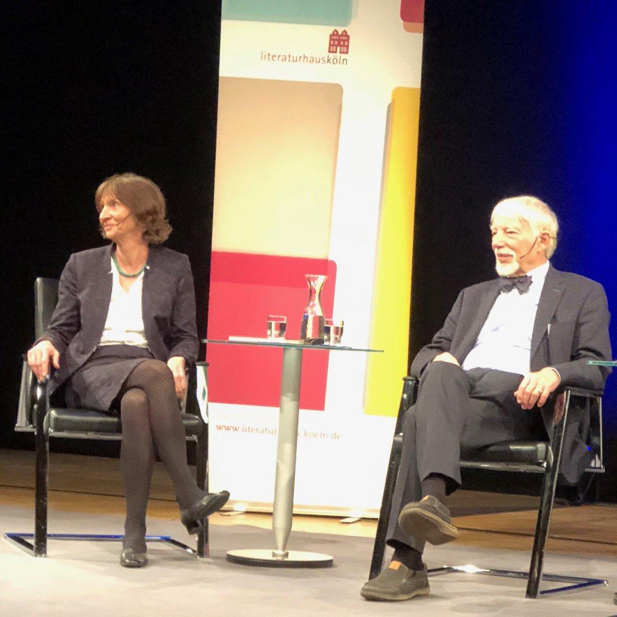 Aleida und Jens #Assmann gestern Abend in Köln. #Friedenspreis #Friedensarbeit https://t.co/MRqp4tXPDU